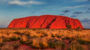 Uluru A photo of Ayers Rock at Sunset